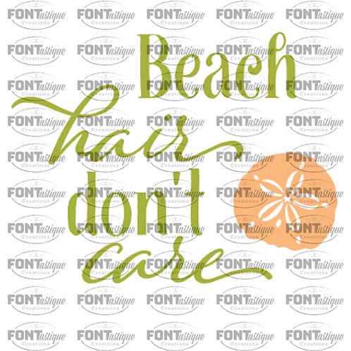 """Beach Hair Don't Care (12""""x12"""")"""