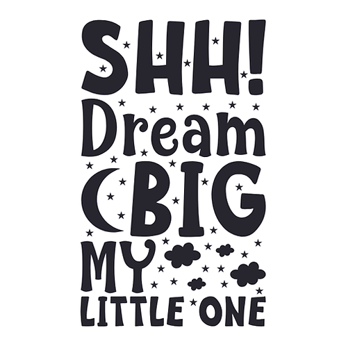 "Shh Dream Big Little One (12""x 18"")"