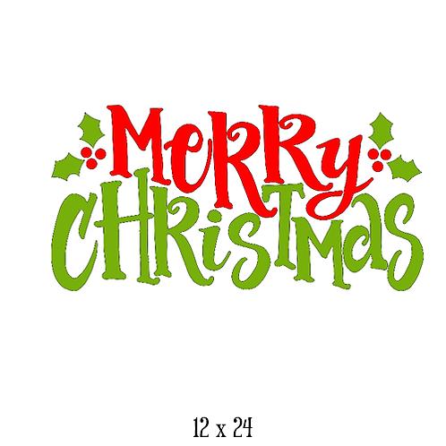 "Merry Christmas (12""x 24"")"
