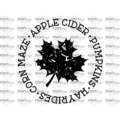 "Maple Leaf Circle Apple Cider (12""x 12"") Square Sign"