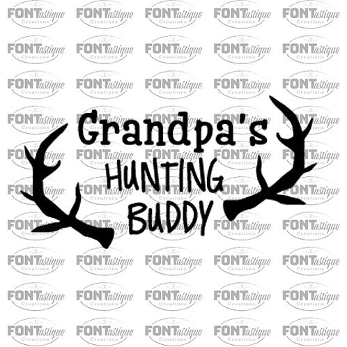 "Grandpa's Hunting Buddy  (12""x24"")"