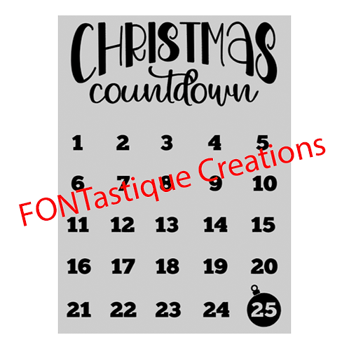 "Christmas Countdown (12""x 15"")"