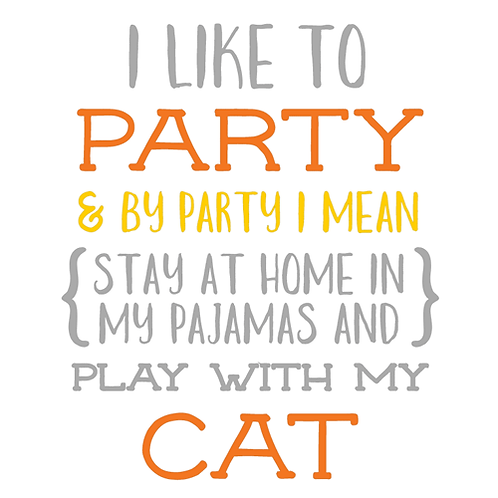 "I like to Party (Cat) (12""x12"")"