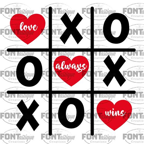 "Tic Tac Toe Love  (12""x 12"")"