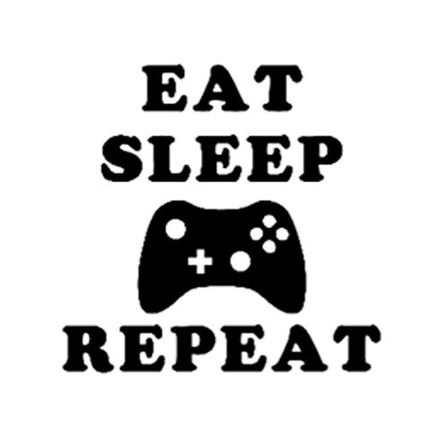 "Eat Sleep Game Repeat (12""x12"")"