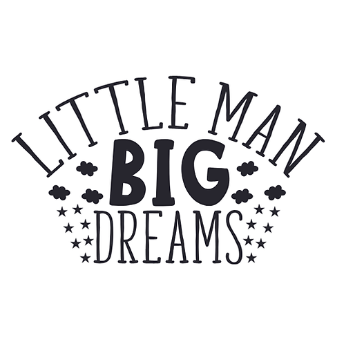 "Little man big dreams  (12""x 12"")"