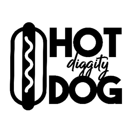 "Hot diggity Dog (12""x 12"")"