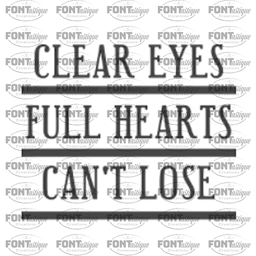"Clear Eyes Full Hearts (12""x12"")"