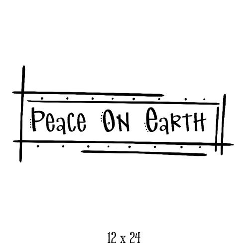 "Peace on Earth (12""x 24"")"