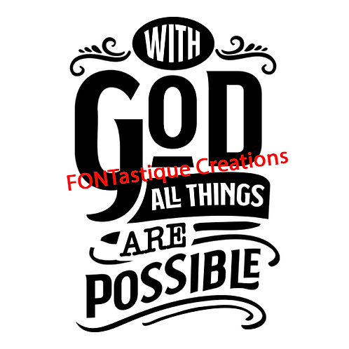 """With God all things are possible (12""""x12"""")"""