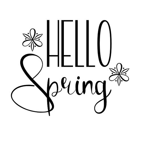 Hello Spring (12x12)