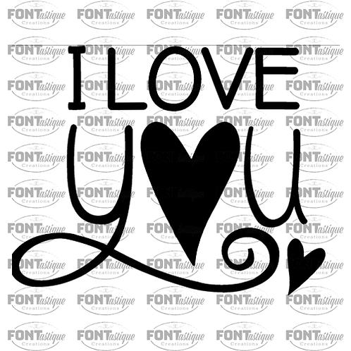 "I love you (12""x12"")"