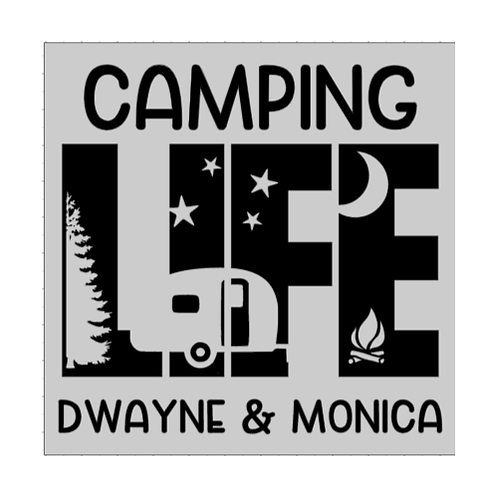 "Camping Life - Personalized (12""x12"")"