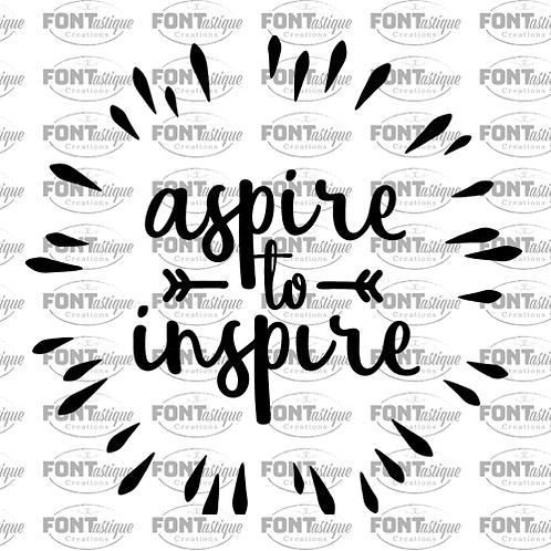 "Aspire to Inspire (12""x12"")"