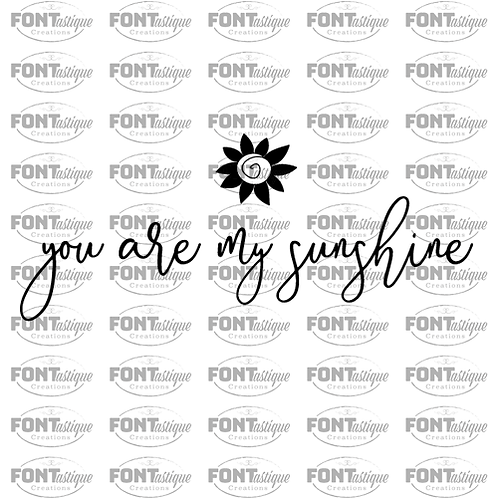 "You are my Sunshine (12""x24"")"