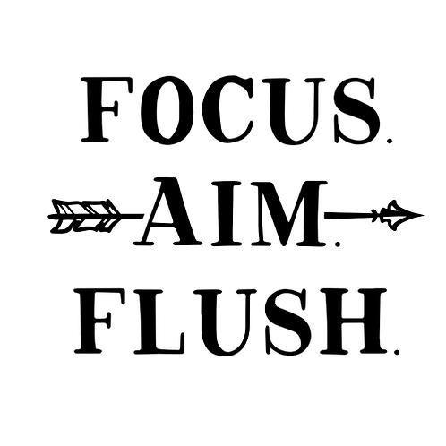 """Focus Aim Flush (12""""x12"""")"""