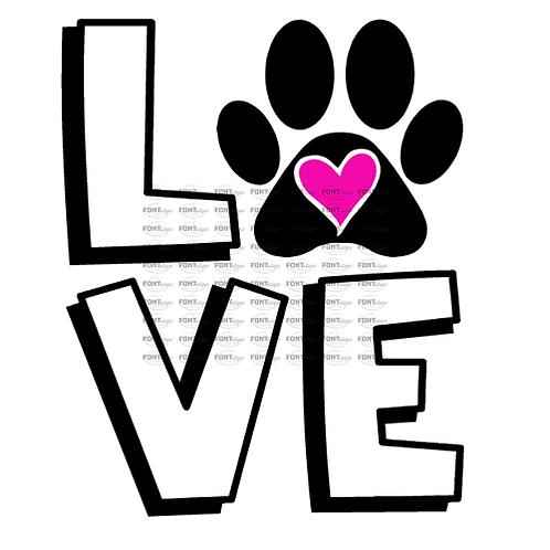 "LOVE paw (12""x12"")"