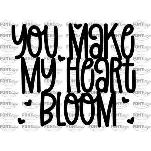 "You make my heart bloom (12""x12"")"