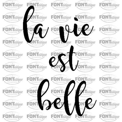 """La Vie est Belle (12""""x12"""")"""
