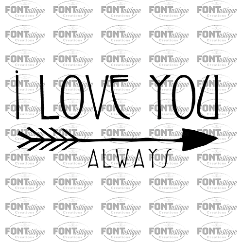 "I love you always (12""x24"")"