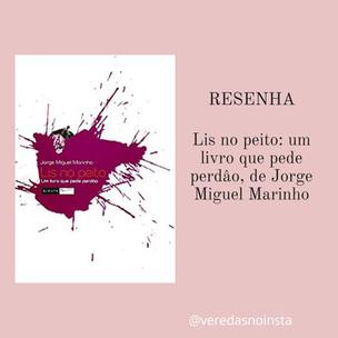 Lis no peito: um livro  que pede perdão, de Jorge Miguel Marinho