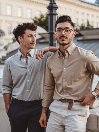 Dario und Okan in Piqué Hemden