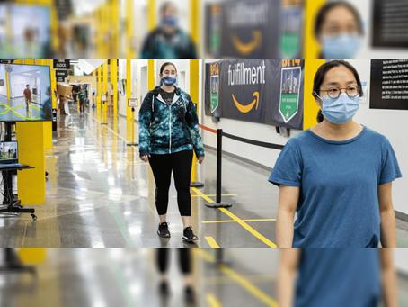 Amazon lança tecnologia de distanciamento em seus escritórios e centros de distribuição