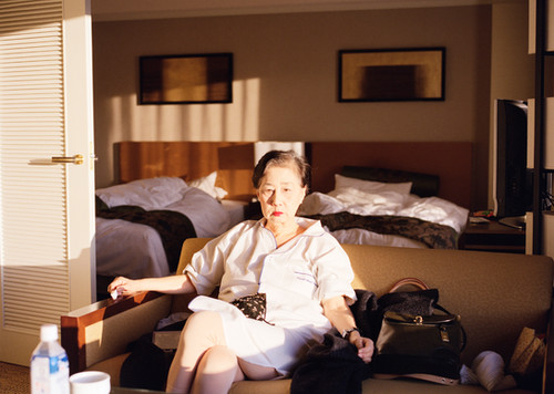 My Mother in a Hotel Room, Kyoto, 2010