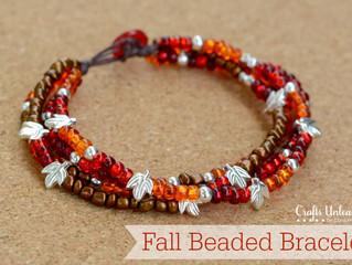 Easy Fall Inspired Beaded Bracelet
