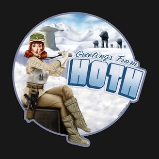 Greetings from Hoth Rebel Fleet Trooper Pinup Girl