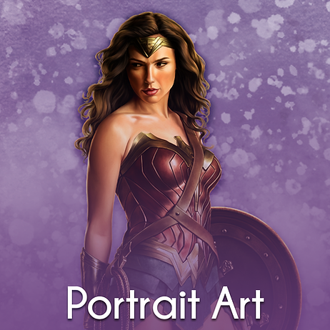 Portrait Art - Wonder Woman Gal
