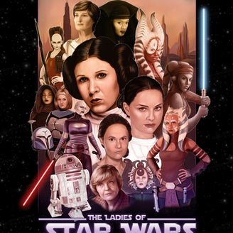 The Ladies of Star Wars - collage. Star Wars Celebration Art Show Submission, 2015.