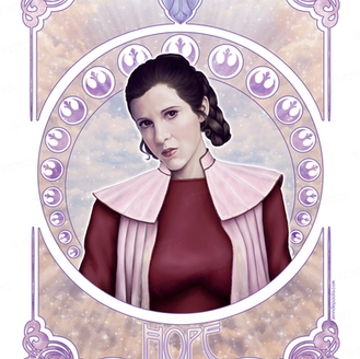 Hope - Leia Organa - In Memory of Carrie Fisher.