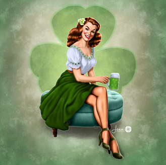 Ms. March - St. Patrick's Day Pinup Girl