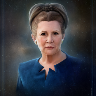 May The Force Be with You - General Leia Organa Portrait