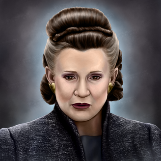 """""""Heroes. No Leaders"""" Portrait of General Leia Organa"""