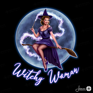 Witchy Woman Pinup Girl