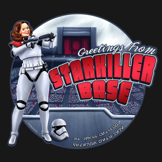 Greetings from Starkiller Base First Order Trooper Pinup Girl