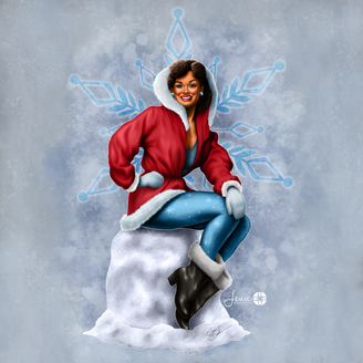 Ms. December - Winter Holiday Pinup