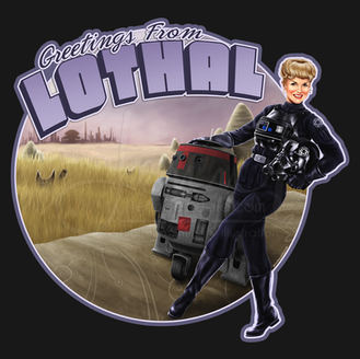 Greetings from Lothal TIE Pilot Pinup Girl