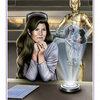 """""""A Moment In Time"""" - Leia Organa and C-3PO - A Star Wars Celebration Art Show submission, 2017"""