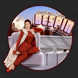 Greetings from Bespin Princess Leia Organa Pinup Girl