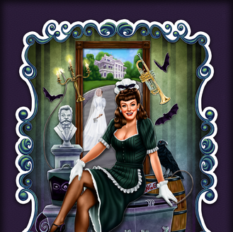 Happy Haunting Pinup Girl