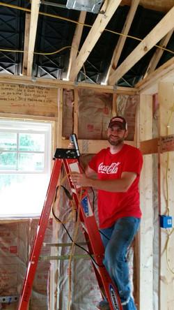 Coke Cola Guys ladder insulation install