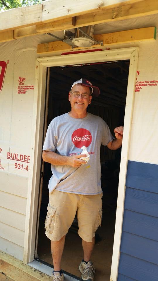 Coke cola Guy in door threshold