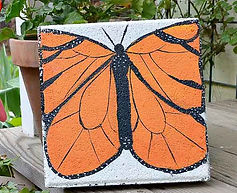 How-to-paint-a-stepping-stone-cement-pav