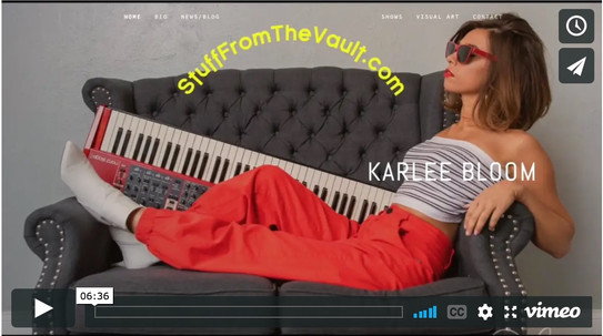 Stuff From the Vault - Behind the Scenes Stories from the Music Business and more...  SFTV 2.0's George Louvis interviews Karlee Bloom - one of Asbury Park's extremely talented! You don't want to miss this episode.
