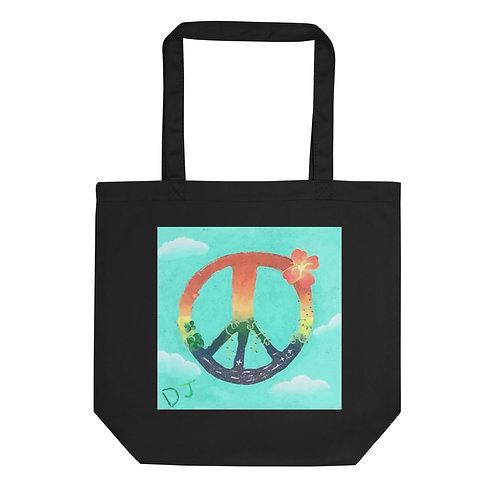 DJ Bowling / The Enchanted Garden on Eco Tote Bag