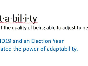 Adaptability during COVID19 and an Election Year