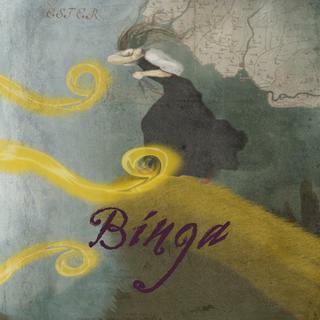 Affisch till Binga, teaterföreställning.